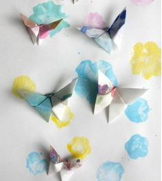 If you are on the search for coffee filter crafts, look no further than these Outstanding Origami Butterflies. Use coffee filters to create this cool origami project. These precious DIY butterflies are sure to be one of your favorite spring crafts.