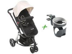 Carrinho de Bebê Passeio Safety 1st - Travel System Mobi até 15kg + Suporte de Copo
