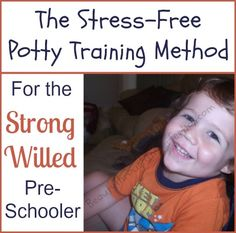 Who said potty training had to be stressful or completed in 3 days??? Here's a Stress Free Potty Training method for Girls and Boys (PERFECT for strong willed kiddos like mine!)