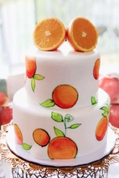 Take a look at this sweet orange-themed boho baby shower! The cake is wonderful! See more party ideas and share yours at CatchMyParty.com
