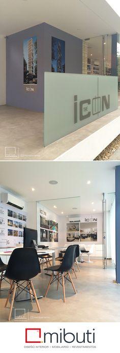 Compartimos otra aplicación de #Microcemento color Gris Cemento en Sala de Ventas de nuestro cliente The Icon | ALC constructora.