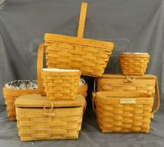 shopgoodwill.com: 7 Longaberger Baskets
