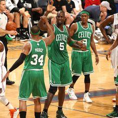 The Big Triple Double (points-Pierce, rebounds-Garnett, assist-Rondo) *optional Rondo fills all three stats