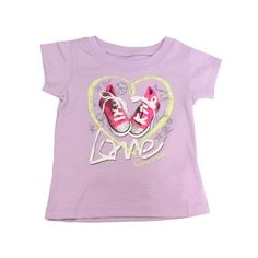 f8deeedea71a Converse Baby Girl s Love Heart T-Shirt months. Love the pimped up pink hi- tops  -)