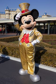 Meeting 30th Anniversary Mickey Mouse!!