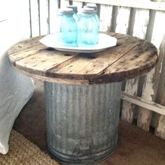 Junk Table- cute on my porch