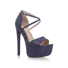Nanette Blue High Heel Platform Sandals from KG Kurt Geiger
