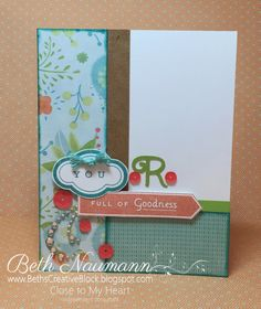 Beth's Creative Block!: May Stamp of the Month: Just Sayin'