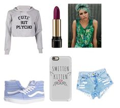 """""""slay"""" by stilinskiisbae23 on Polyvore featuring Lancôme, Vans and Casetify"""