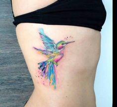 ~ TATTOO ART ~ Watercolor Hummingbird tattoo design