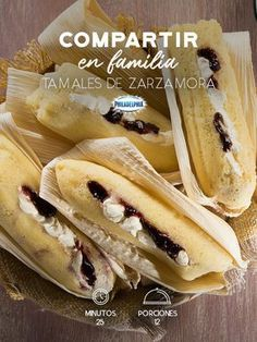Consiente a tu familia con el sabor de nuestras tradiciones y prueben estos Tamales de zarzamora con Philadelphia #recetas #quesophiladelphia #quesocrema #recetasfáciles #zarzamora #tamales