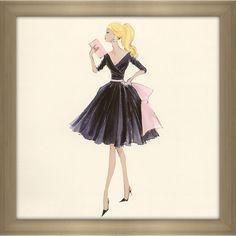 FramedCanvasArt.com Robert Best 'Midnight Mischief Barbie Fashion 2003' Framed Fashion Wall Decor