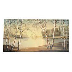 White Birch Painting
