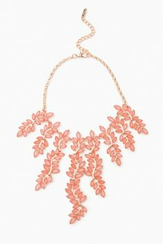 A THOUSAND LEAVES NECKLACE IN CORAL