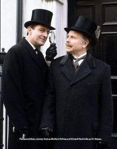 Sherlock and Watson Sherlock Holmes Short Stories, Adventures Of Sherlock Holmes, Jeremy Brett Sherlock Holmes, Sherlock John, Granada, Sherlock Pipe, 221b Baker Street, Private Life, John Watson