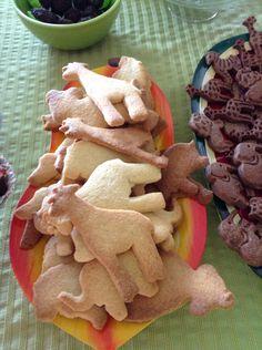 Bolachas de baunilha em molde de animais