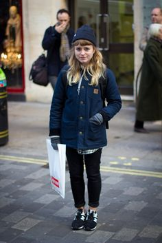 365strangers:    Day 279 December 16th 2012  Name: Vicky             Answer: Cucumber  Question: Favourite place to shop for hats?