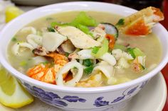 Sopa Siete Mares, soup with seven types of seafood, from Mario's Peruvian