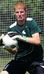 The Michigan State men's soccer team tied Butler with a 0-0 deadlock in its final exhibition on Saturday evening in Kentwood, Mich. 17 field players in addition to two goalies contributed in the game for MSU. The entire active Spartan roster saw action during the 2013 preseason.  Zach Bennett pictured.