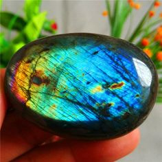 88g Natural Labradorite Crystal Rough Polished From Madagascar L-773