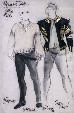 Romeo and Juliet (Romeo). Seattle Repertory Theatre. Costume design by David Murin. 2003