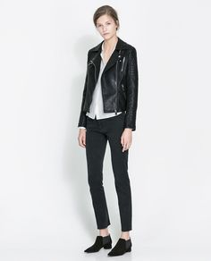 Motorcycle Jacket with Zips - Lyst