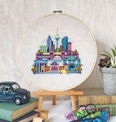 Pretty Little Berlin cross stitch pattern - Satsuma Street on Etsy