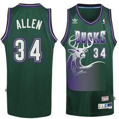 9938dcf5140894 Men's Milwaukee Bucks Ray Allen adidas Hunter Green Hardwood Classic  Swingman Jersey Ray Allen Bucks,