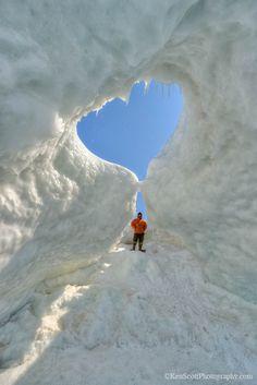 """Ice Cave"" Heart - Lake Michigan"