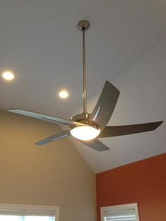 Hampton Bay Sidewinder 54 In Indoor Brushed Nickel Ceiling Fan With Light Kit And Remote Control