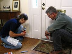 How to seal up a front door.