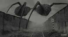 Concept art to ZONA TV series (based on the short science fiction novel written by Arkady and Boris Strugatsky), 2015 Arte Horror, Horror Art, Creepy Horror, Scary, Dark Fantasy Art, Dark Art, Roadside Picnic, Science Fiction, Street Art