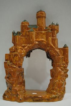 Castle.Ceramic Castle.Hand Painted Castle.Ceramic Glaze.Brown Ceramic Castle.Handmade Ceramics by olgabeadsdesigns on Etsy