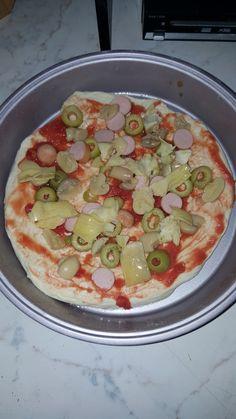 La mia prima pizza fatta in casa!!