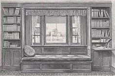Image result for window seat and bookshelves