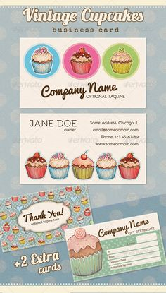 Color theme for pets surrounded by a caketro homemade cake vintage cupcake business thank you gift card reheart Choice Image
