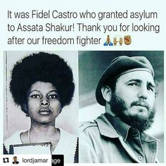 @Regrann from @personagurl -  #Repost @lordjamar with @repostapp  The U.S. has wanted her and Fidel would not let them come get her.  We have not had a lot of friends around the world. Most people have looked upon our plight and kept it moving. Don't tell me who my enemies are because most of the European governments you call friends have been nothing but enemies towards black people all around the globe. A bunch of invaders rapists and genocidal maniacs. Dont say shit to me about Fidel…
