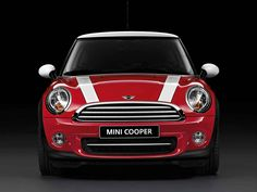 Here's a classic shot for the books: the timeless MINI Hatch, with white bonnet stripes.