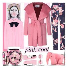 """Pretty in Pink (Coat)"" by sylandrya ❤ liked on Polyvore featuring Erdem, Yazbukey, Loewe, Prada, MaxMara and pinkcoats"