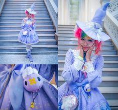 Kammie Pomeranian - Angelic Pretty Lavender Luminous Sanctuary Op Special Set, Sanrio Little Twin Stars, Pokemon Drifloon - Drifloon Luminous Sanctuary Witch