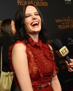 Eva at the Miss Peregrine red carpet in NYC. ❤❤❤ #evagreen
