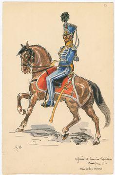 Naples; Lancers, Officer Grande Tenue 1812