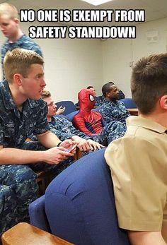 Navy Safety Stand Down - Navy Memes Navy Jokes, Navy Humor, Navy Military, Military Life, Rotc Memes, Marine Corps Humor, Military Jokes, Stand Down, Army Life