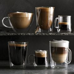 Double-Wall Glass Espresso Cups, Set of 4 #williamssonoma
