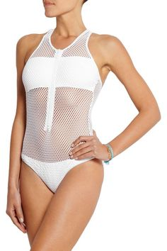 Melissa Odabash One-Piece Zuma Mesh Swimsuit Jennifer Lawrence's bathing suit in Passenger...love it so much!