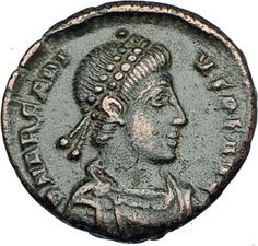 ARCADIUS crowned by Victory 395AD Cyzicus Authentic Ancient Roman Coin i65874