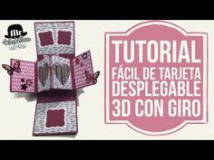 Tutorial fácil para tarjeta desplegable con giro | Manualidades