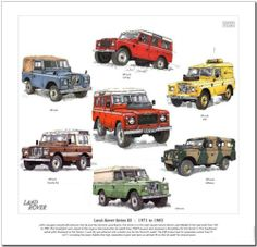 LAND ROVER SERIES III---CAR ART PRINT (A) | eBay