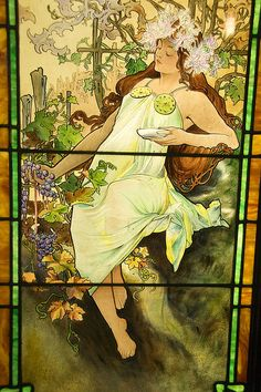 Mucha's Four Seasons - Autumn