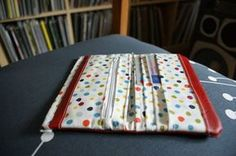 my craft room Sew Wallet, Fabric Wallet, Picnic Blanket, Outdoor Blanket, Wallet Tutorial, Craft Bags, Sewing Basics, Sewing Projects, Sewing Patterns